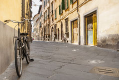Bike a Tuscany street Stock Images