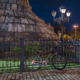 Bike under the monument Royalty Free Stock Image