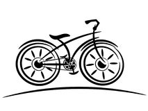 Bike vacant sketch isolated. On white Royalty Free Stock Images