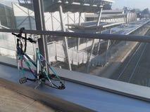 Bike vandalized in train station