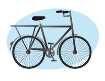 Bike vector. Black old bike over blue circle background. vector illustration Stock Photos