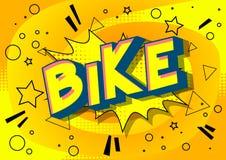 Bike - Comic book style words. royalty free illustration