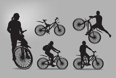 Bike. Vector illustration. Authors illustration in Royalty Free Stock Photography