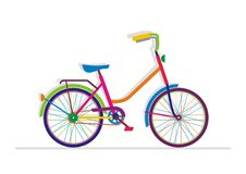 Bike. Vector illustration. Colorful silhouette Stock Photos