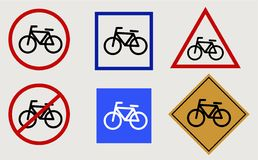 Bike vector signs Stock Photography