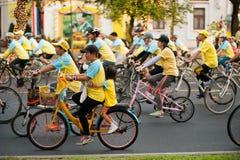 """""""Bike voor het cirkelen van Dad† Thailand's viering voor Zijn Majesteit de Koning Stock Afbeelding"""