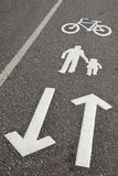 Bike and walk lane Royalty Free Stock Photos
