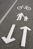 Bike and walk lane Royalty Free Stock Photos