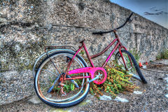 Bike and wall Stock Photography