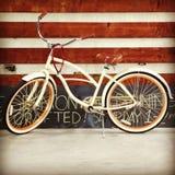 Bike in warehouse. 1 at LA harbor Stock Images
