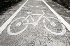 Bike Way Stock Photography