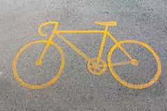 Bike way symbol Stock Photos