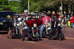 Bike Week Harleys. A group of bikers show off their Harleys during bike week Stock Photography