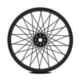 Bike wheel. Black and white illustration on white background Royalty Free Stock Photography