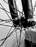 Bike wheel in Black and White Royalty Free Stock Image