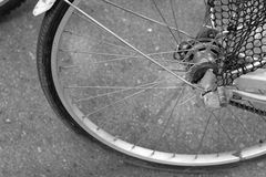 Bike Wheel. Close up the bike Wheel background and texture Royalty Free Stock Images