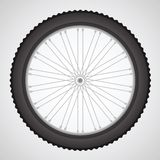 Bike wheel. Colorful illustration with  bike wheell on a gray background for your design Stock Photo