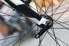 Bike wheel detail Stock Images
