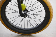 Bike wheel detail. BMX style. Sport background. Stock Images