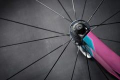 Bike wheel detail stock image