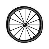 Bike wheel illustration Stock Photography