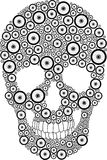 Bike wheel skull Royalty Free Stock Photography