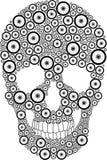 Bike wheel skull Royalty Free Stock Photography