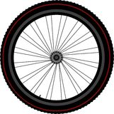 Bike wheel tyre disk and gear Stock Photos