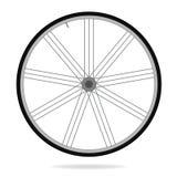 Bike wheel - vector illustration on white background Stock Images