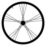 Bike wheel - vector illustration on white background. Image of Bike wheel - vector illustration on white background Royalty Free Stock Photography
