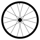 Bike wheel - vector illustration on white background. Image of Bike wheel - vector illustration on white background Royalty Free Stock Photos
