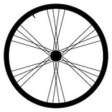 Bike wheel - vector illustration on white background. Image of Bike wheel - vector illustration on white background Royalty Free Stock Image