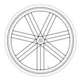 Bike wheel - vector illustration on white background. Image of Bike wheel - vector illustration on white background Royalty Free Stock Images