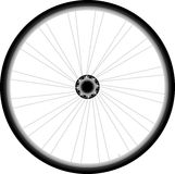 Bike wheel - vector on white background Royalty Free Stock Images