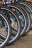 Bike wheels Royalty Free Stock Photography