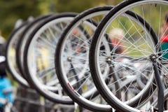 Bike wheels royalty free stock image