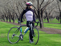 bike woman Στοκ Φωτογραφίες