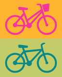 Bike women, men, icon vector Stock Photography