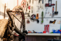 Bike workshop Stock Images