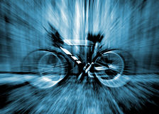 Bike Zoom. A bike thats been zoomed Royalty Free Stock Photography