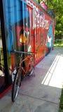 Bikecicle rojo Imagenes de archivo