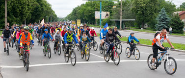 Bikeday 2015 in Poltava Stock Afbeelding