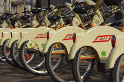 BikeMi in Mailand Lizenzfreies Stockbild