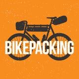 Bikepacking stock illustration