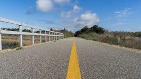 Bikepath till och med träna Arkivfoton