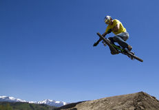 Biker. New area for free sport for young people Royalty Free Stock Photo