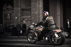 Biker. Motorcycle rally 2013, Parma Italy Stock Photo