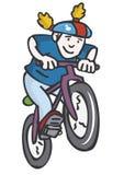 Biker. Kid on mountain bike Stock Images