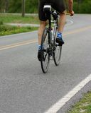Biker. Close up of rear of biker royalty free stock images
