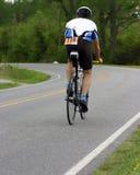 Biker. View from rear of biker stock photos